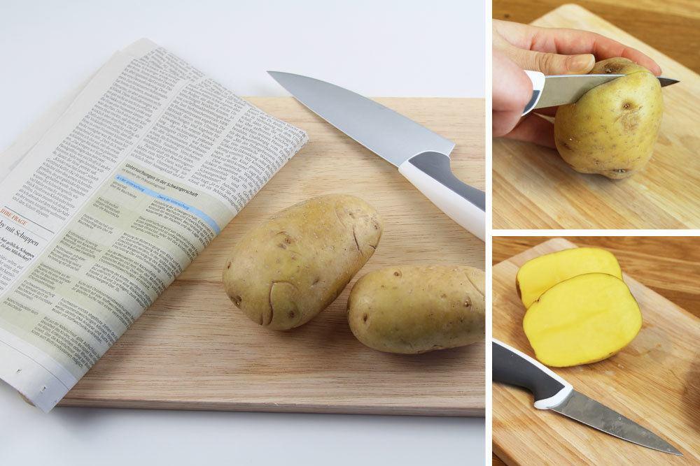 Silberfischchen mit rohen Kartoffeln einfangen