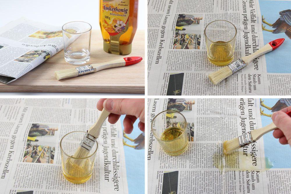 Silberfischchen mit Honigzeitung anlocken und fangen