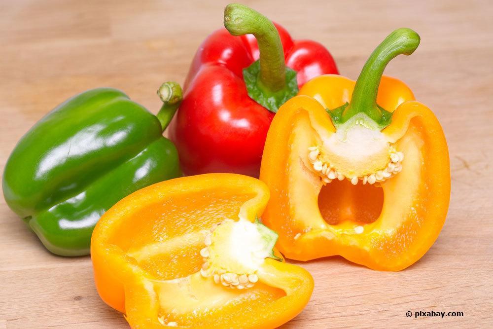 Paprika bis zum Verzehr kühl lagern
