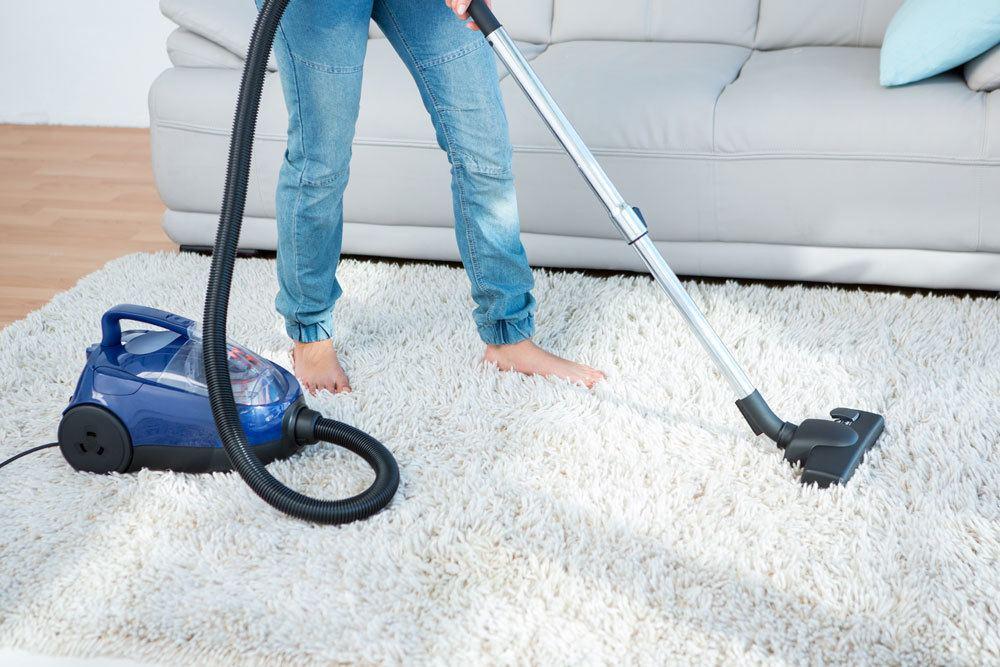 Teppich absaugen