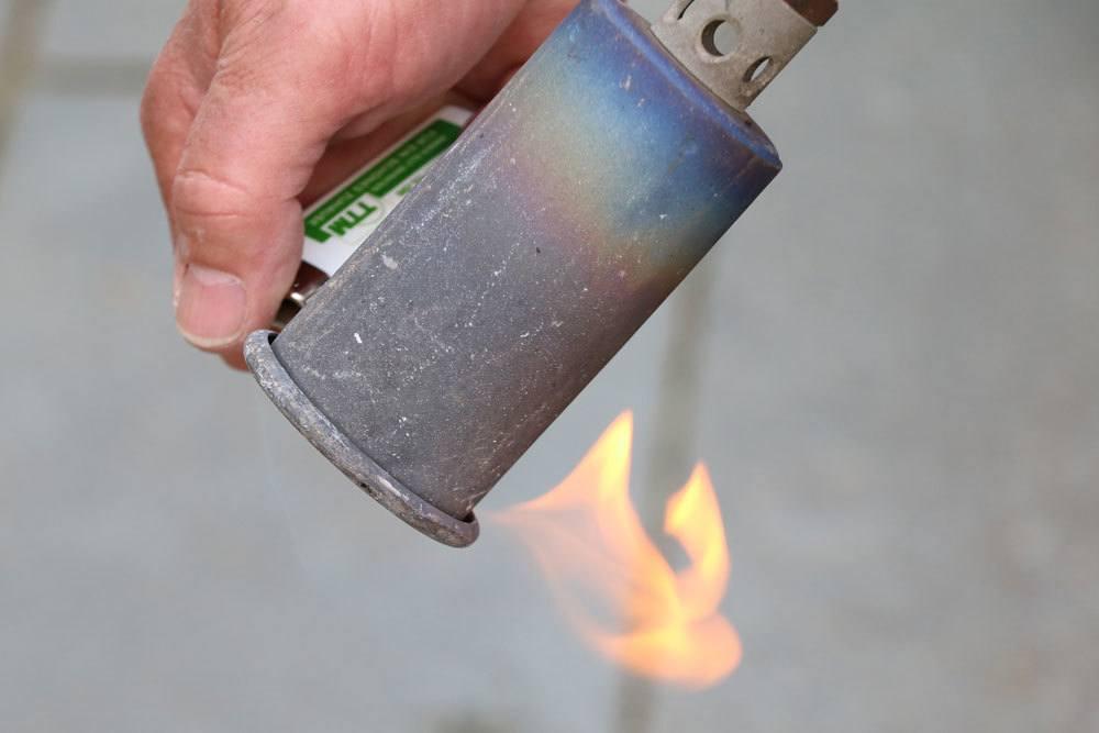 Abflammgerät