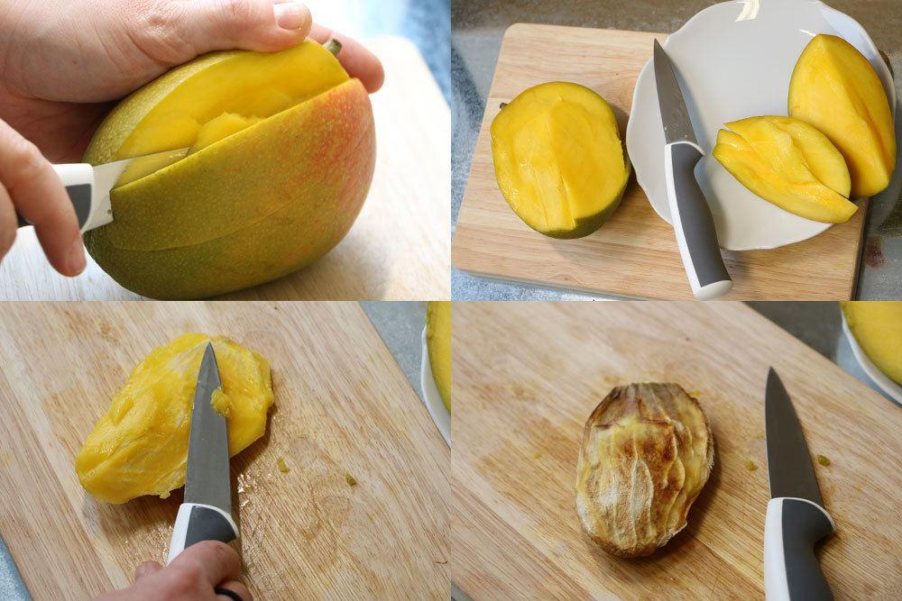 Mangokern präparieren