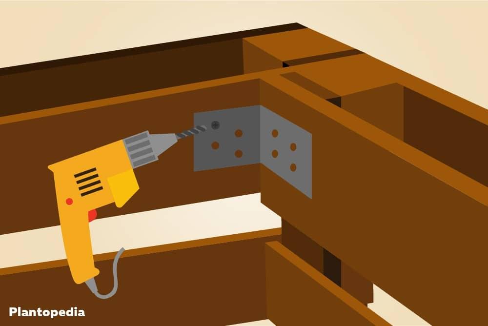 Winkelverbinder montieren