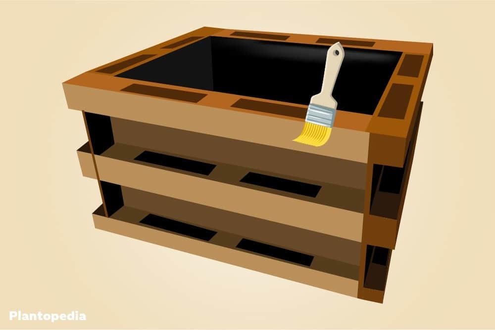 hochbeet aus paletten selber bauen diy anleitung europaletten. Black Bedroom Furniture Sets. Home Design Ideas