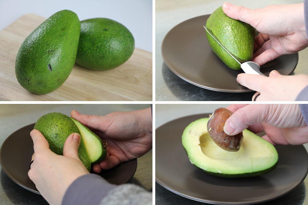 Avocadokern lösen
