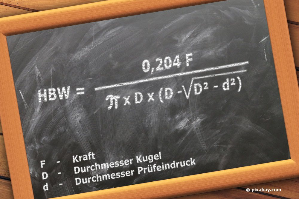 Formel zur Berechnung von Brinellhärte