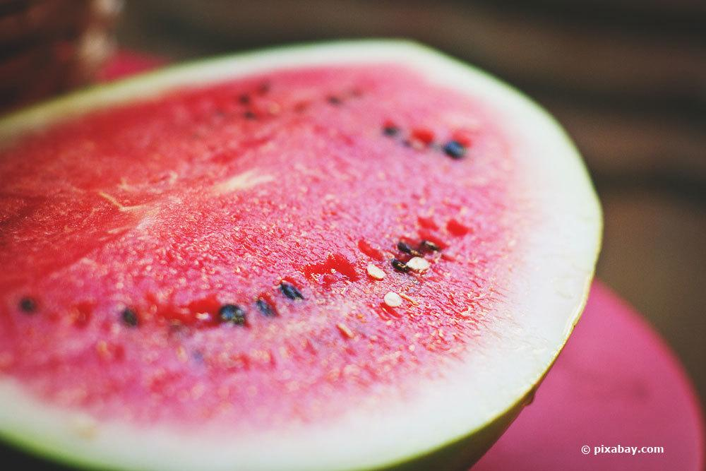 Wassermelone aufgeschnitten
