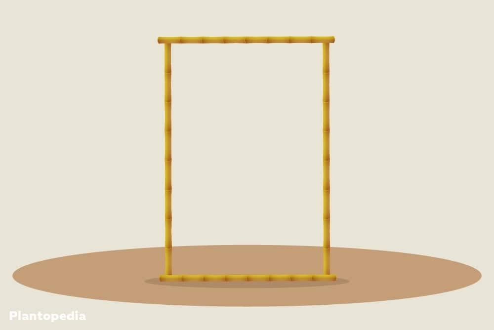 Rankgitter aus Bambus - Rahmen