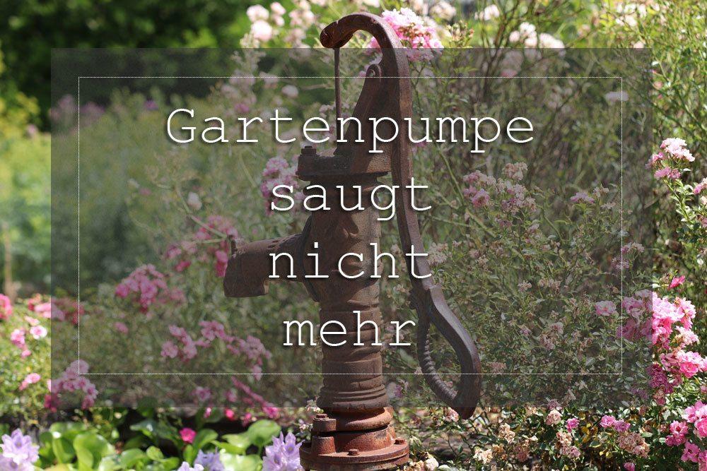 Gartenpumpe Saugt Kein Wasser Mehr An Was Tun 7 Tipps