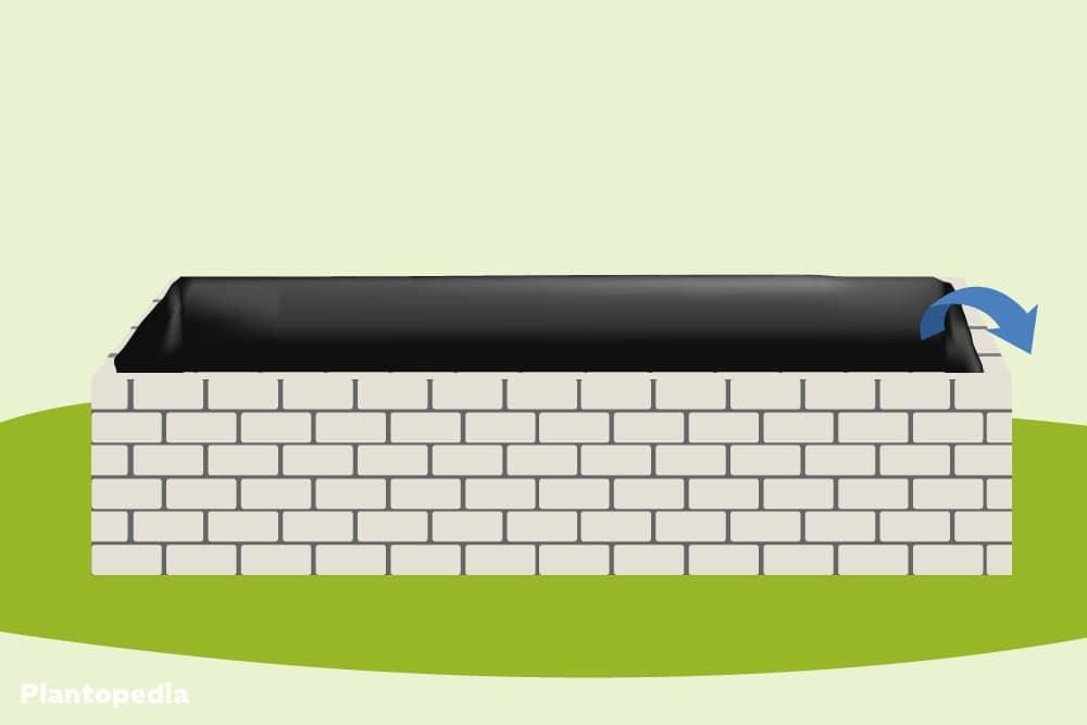 Teichfolie schützt die Steine vor Feuchtigkeit