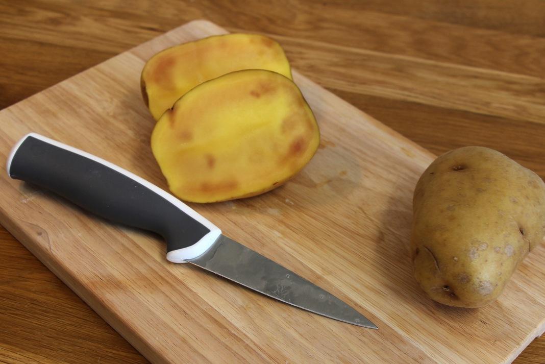 Eisenfleckigkeit an Kartoffeln