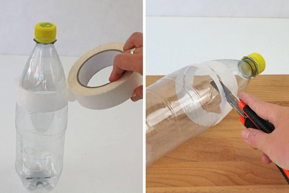 PET-Flasche zerschneiden