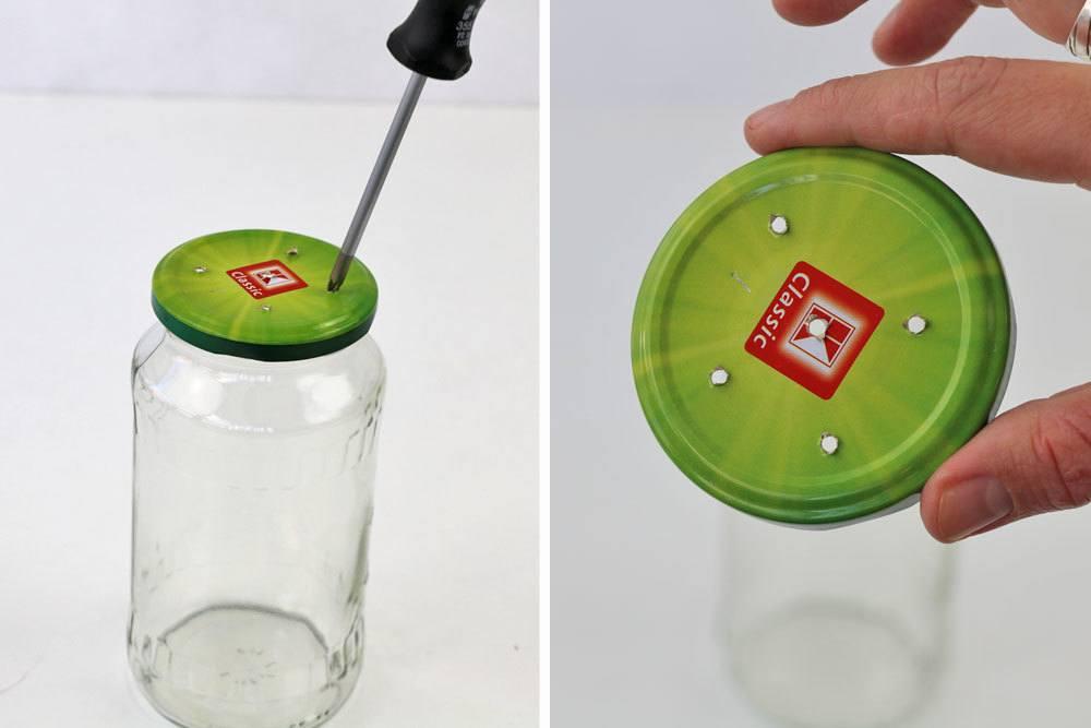 Fliegenfalle aus Schraubglas