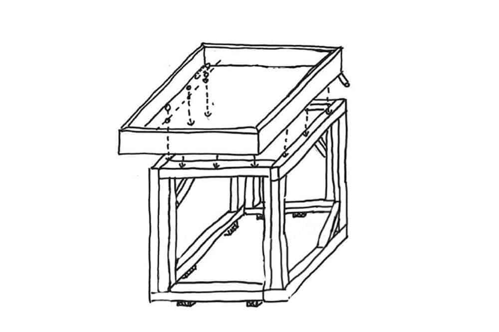 Dach für die Gartenbox montieren