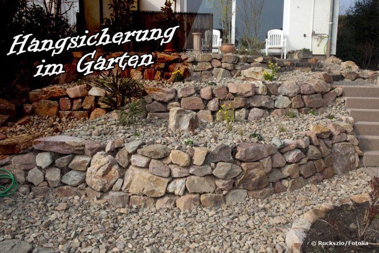 Hangsicherung im Garten