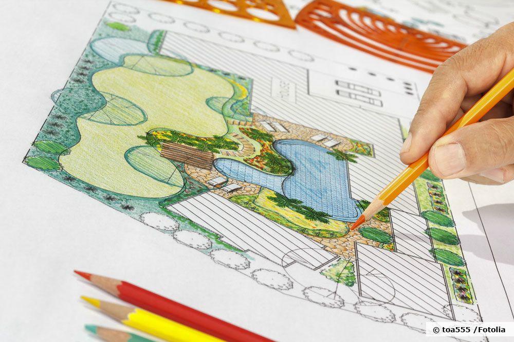 Garten Skizze anfertigen