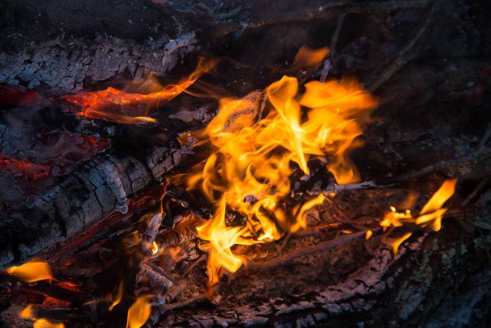 offenes Feuer im Garten