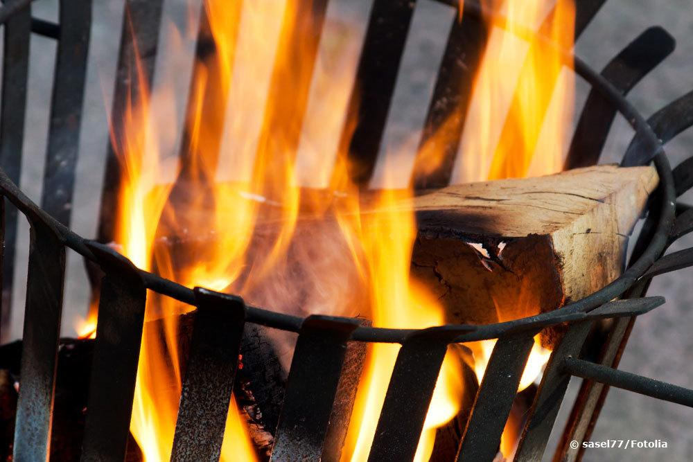 Feuerkorb im Garten