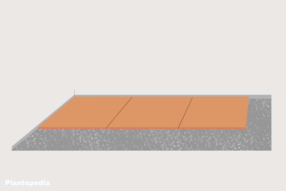 Terrassenplatten im Splittbett verlegen