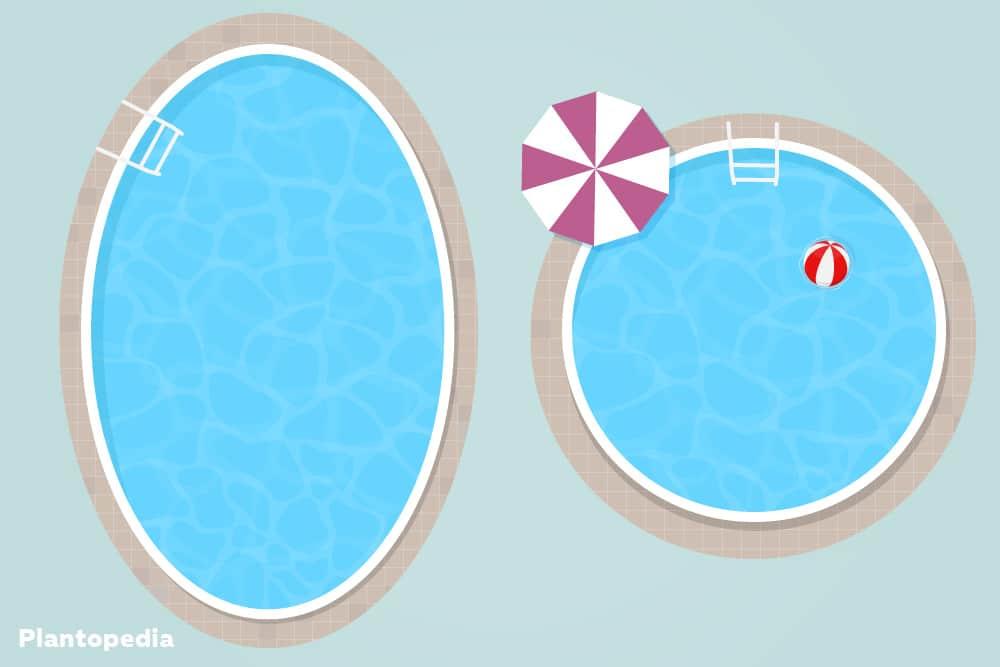 runder, ovaler Pool