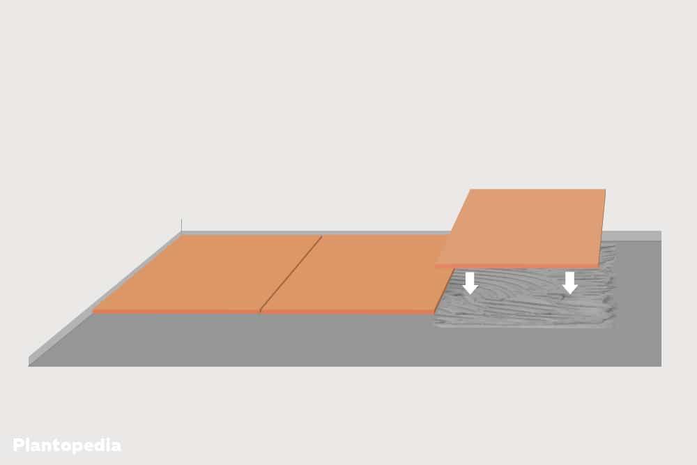 Terrassenplatten im Mörtelbett verlegen