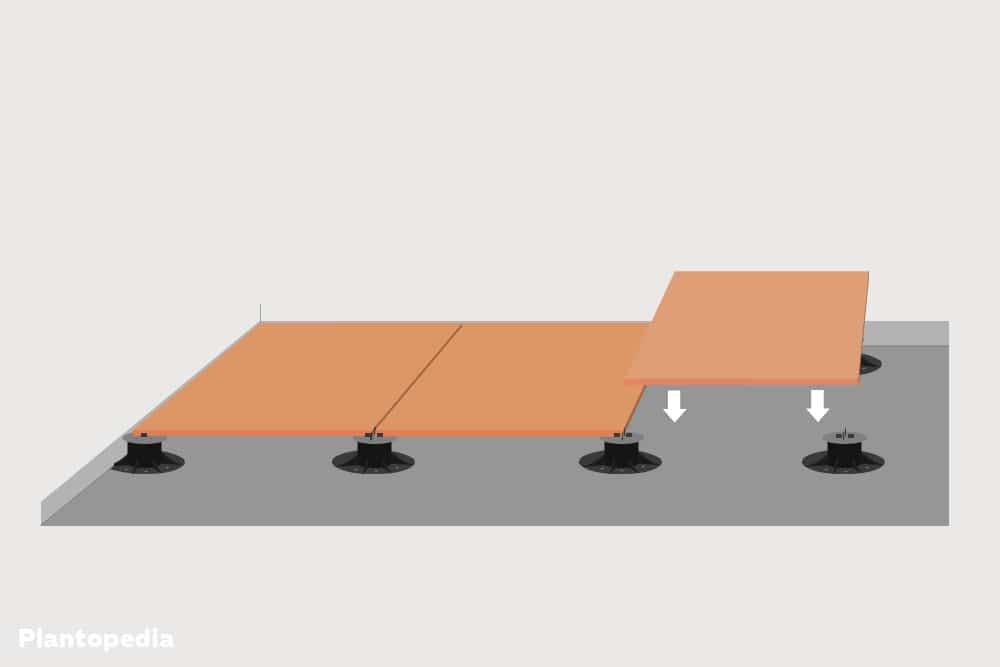 Terrassenplatten auf Setzlagern verlegen