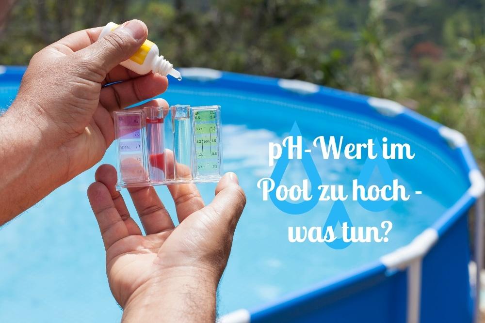 pH-Wert im Pool zu hoch - Titel