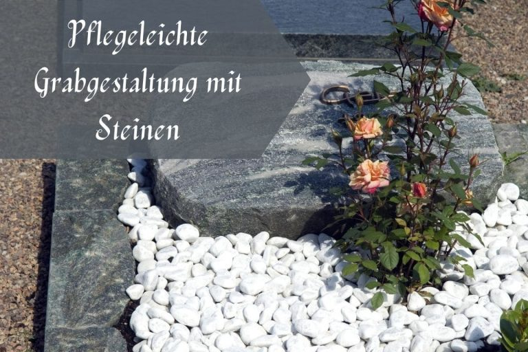 Grabgestaltung mit Steinen - Titel