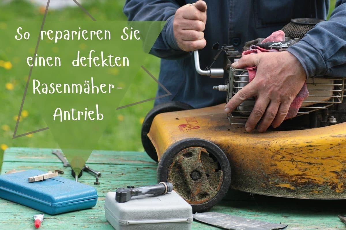 Rasenmäher-Antrieb reparieren - Titel