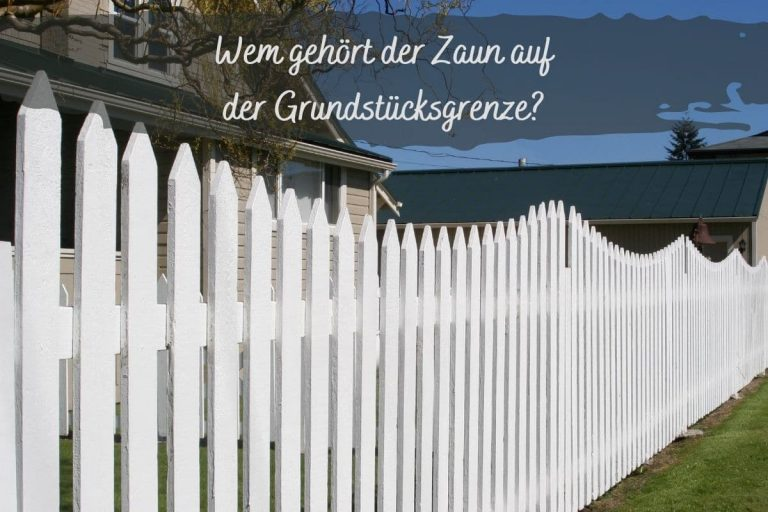 Zaun Grundstücksgrenze