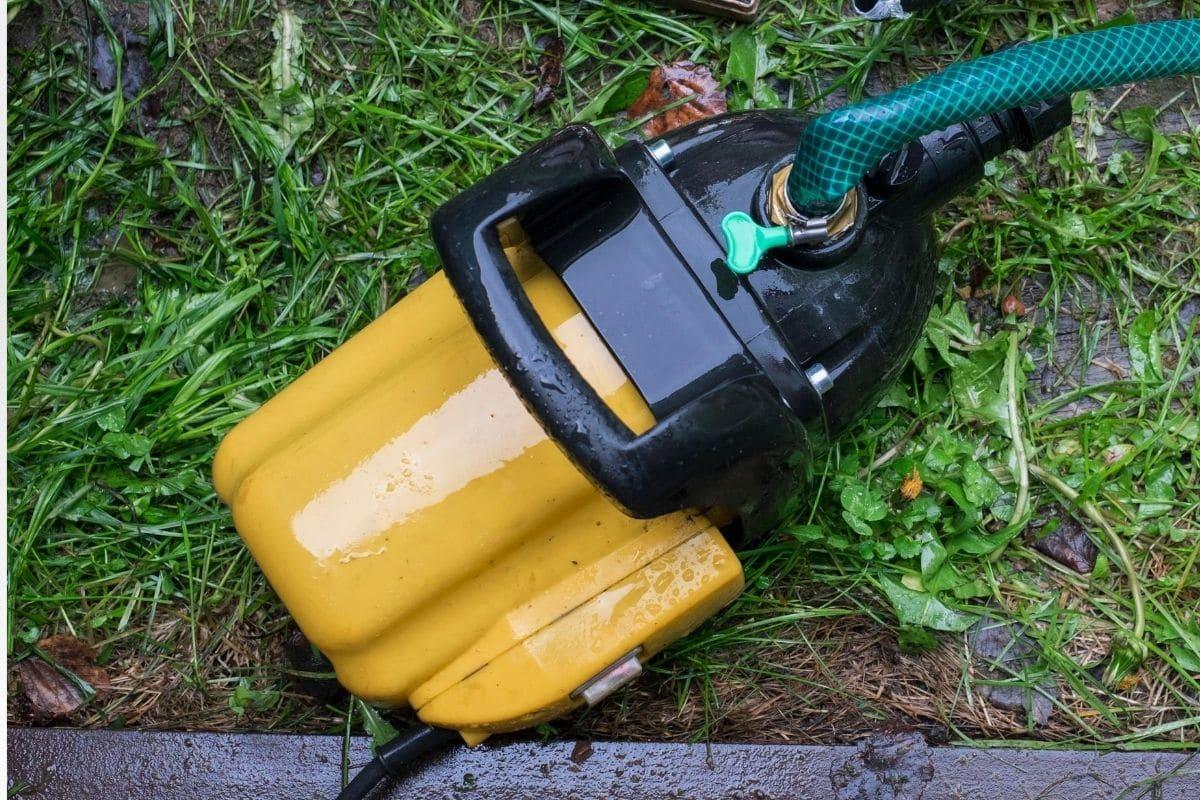 Gartenpump, Pumpe für IBC-Container