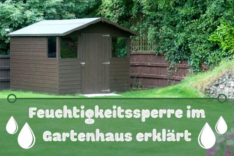 Feuchtigkeitssperre im Gartenhaus - Titel