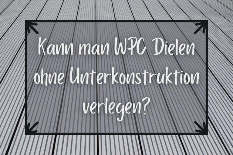 WPC Dielen verlegen ohne Unterkonstruktion - Titel