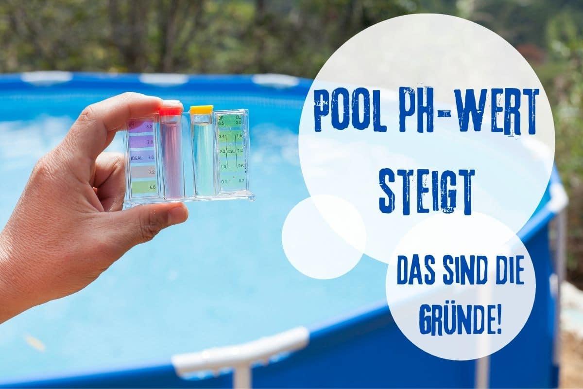 pH-Wert Pool steigt