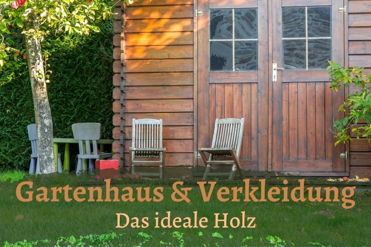 Gartenhaus und Holzverkleidung - Titel