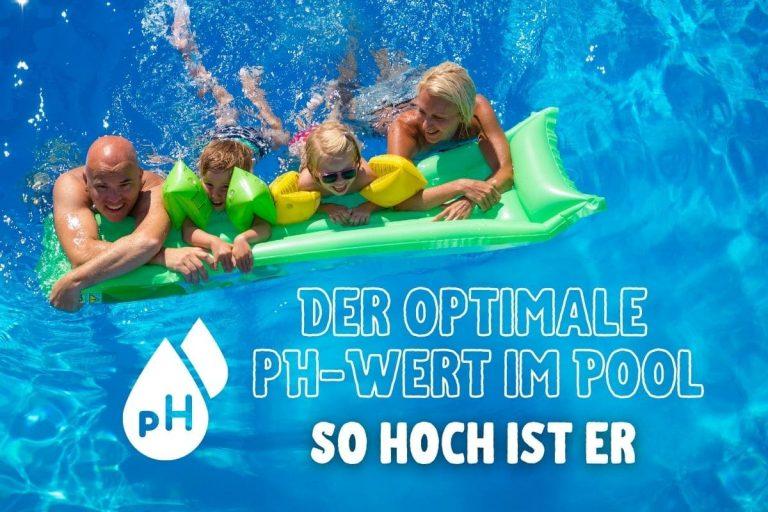 Optimaler pH-Wert im Pool - Familie im Wasser