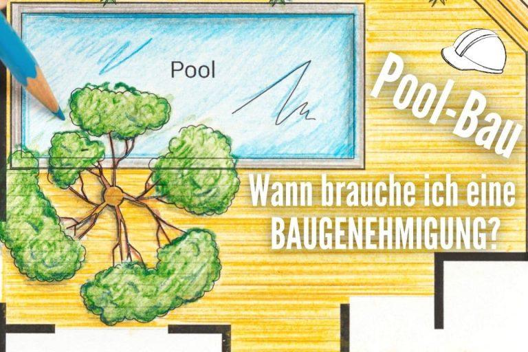 Wann ist ein Pool genehmigungspflichtig - Konstruktionszeichnung Pool