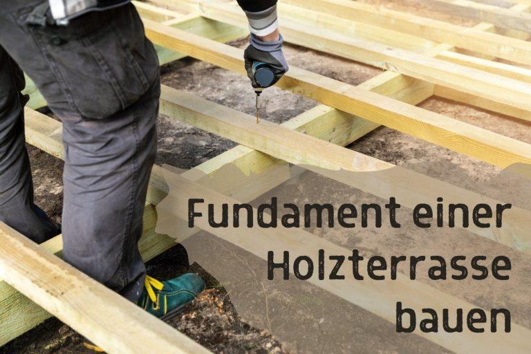 Fundament einer Holzterrasse bauen - Titel