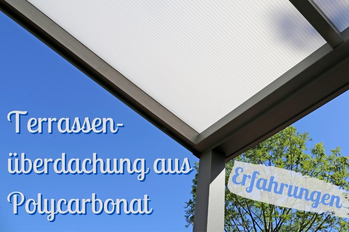 Terrassenüberdachung aus Polycarbonat - Titel