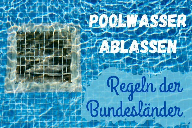 Poolwasser ablassen - Titel