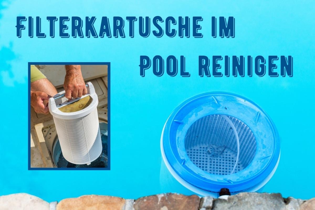 Filterkartusche im Pool reinigen - Titel