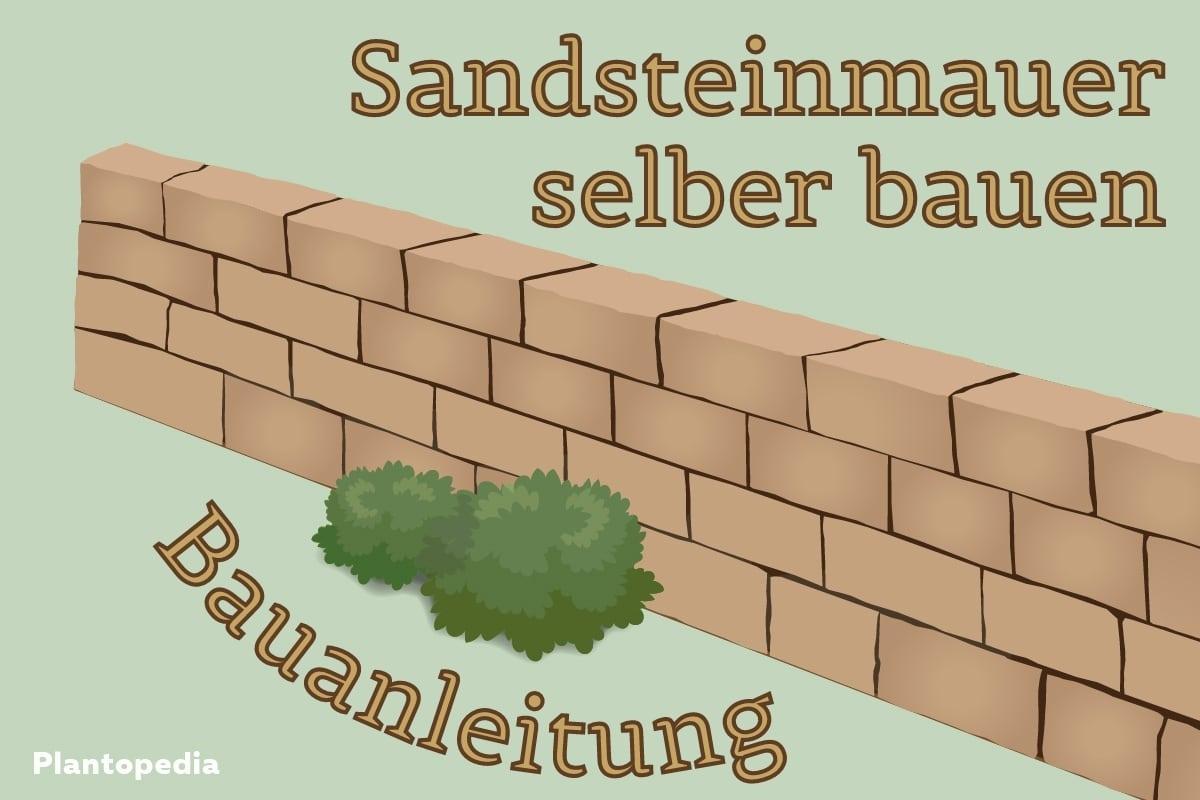 Sandsteinmauer bauen - Titel