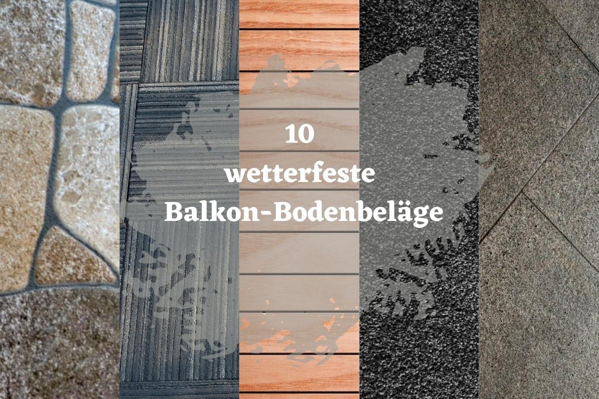 wetterfeste Balkon-Bodenbeläge - Titelbild
