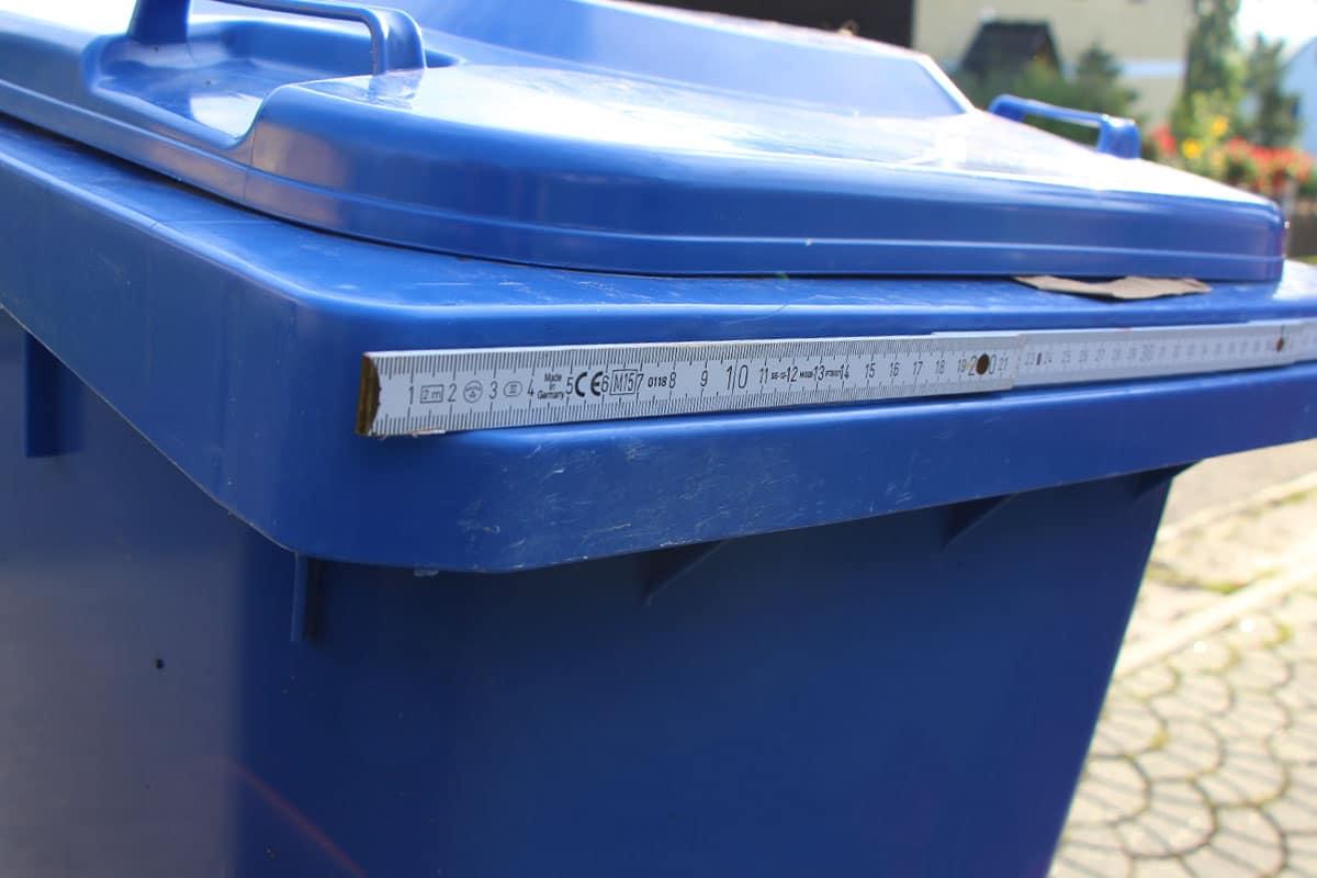 Mülltonnenbox ausmessen