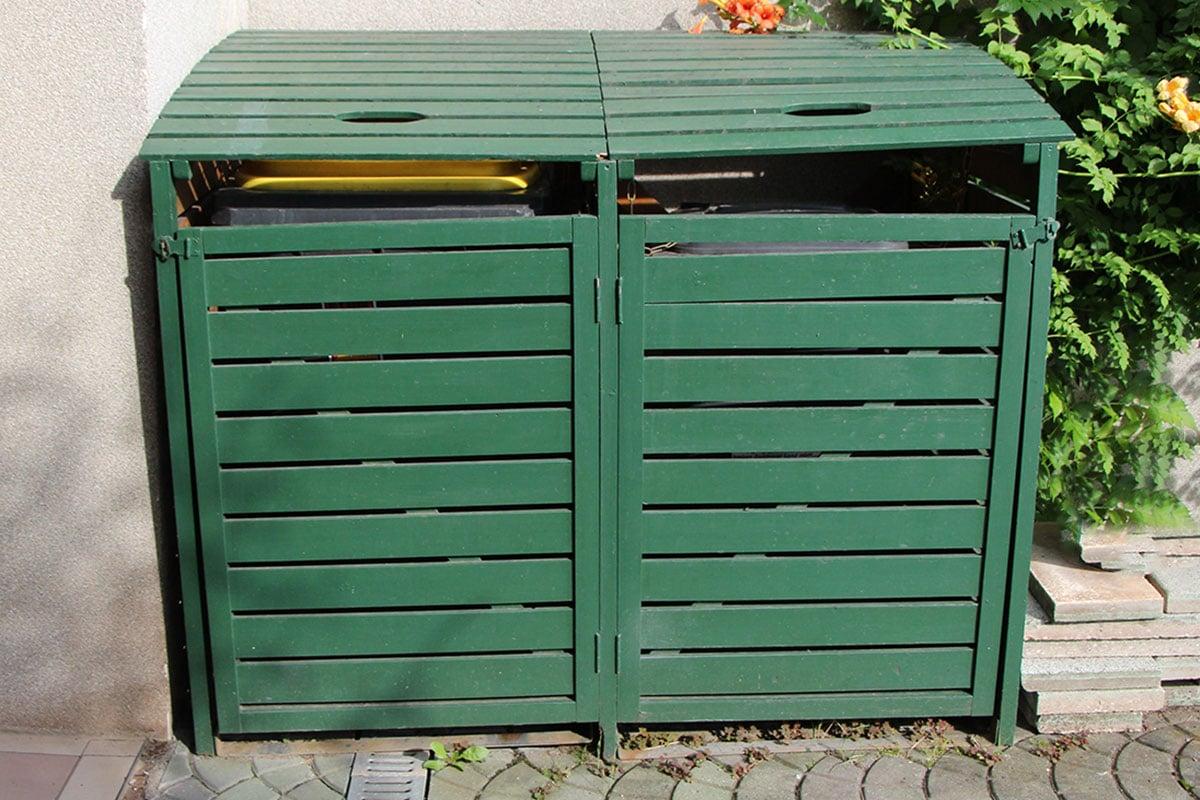 fertige Mülltonnenbox