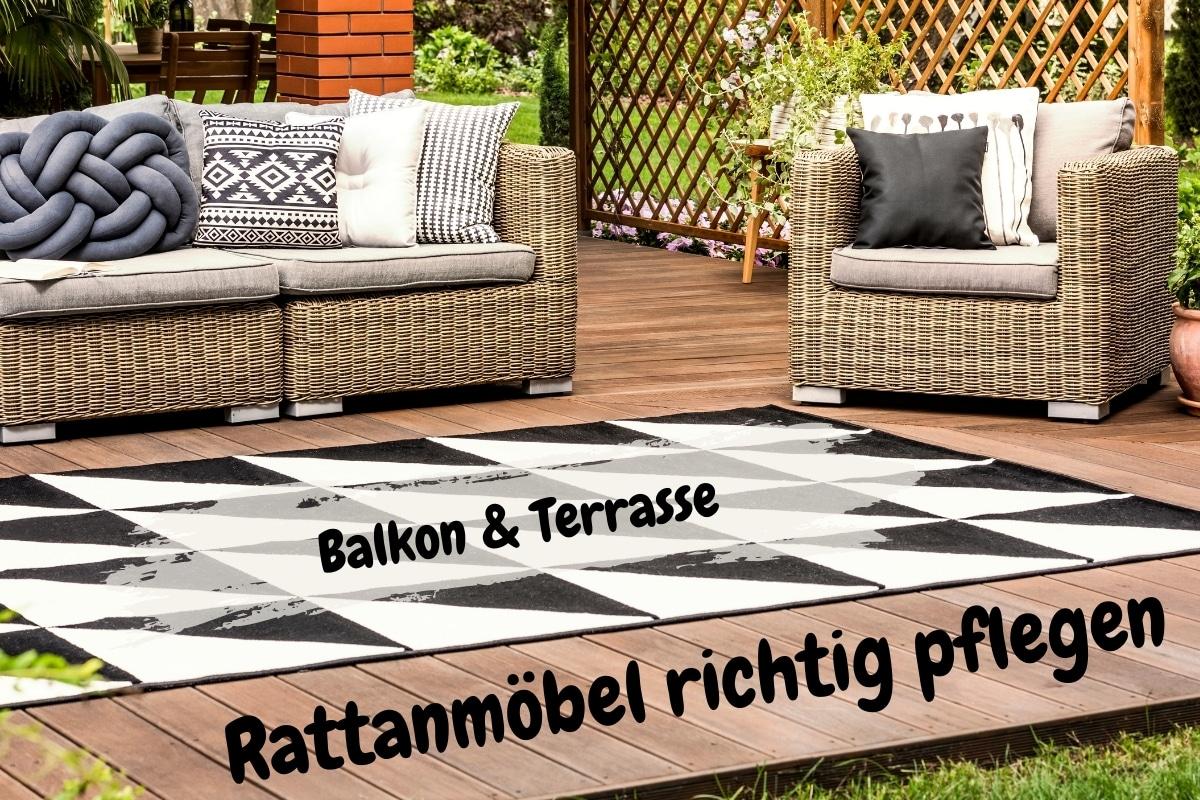 Rattanmöbel richtig pflegen   Balkon & Terrasse