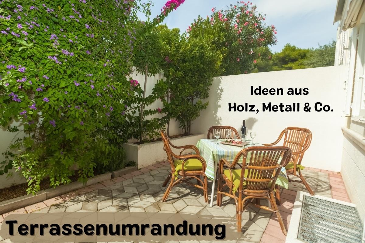 Terrassenumrandung: 12 Ideen aus Holz, Metall & Co. - Titelbild