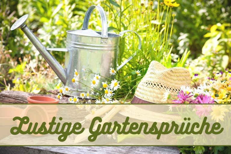 Lustige Sprüche für den Garten