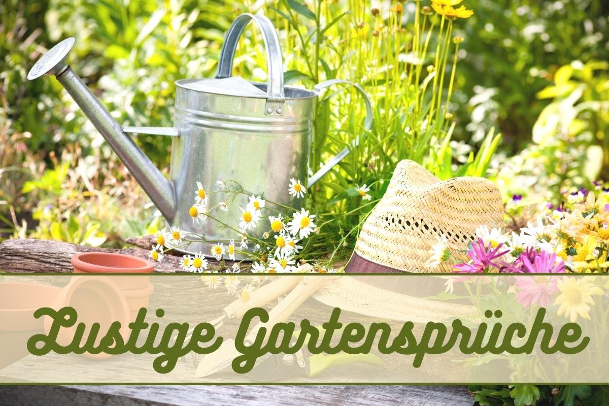 Kurze, lustige Gartensprüche für jeden Anlass